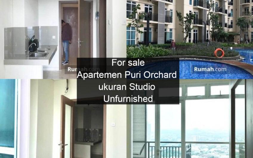 For sale Apartemen Puri Orchard ukuran Studio Unfurnished Harga murah
