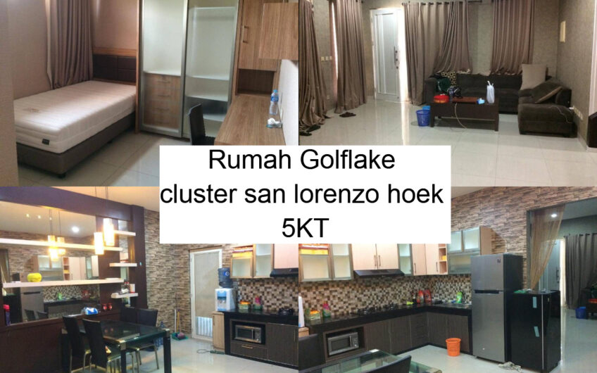 Rumah Golflake cluster san lorenzo hoek 5KT FF