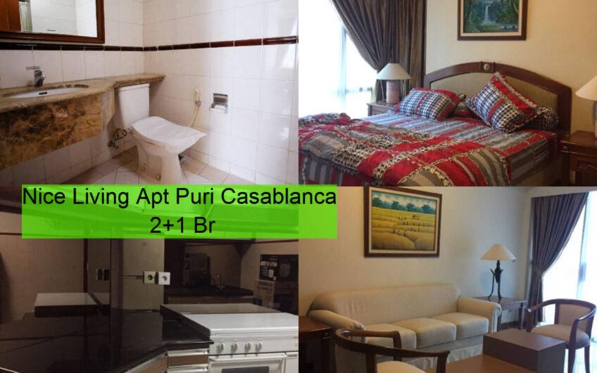 For Rent Nice Living Apt Puri Casablanca