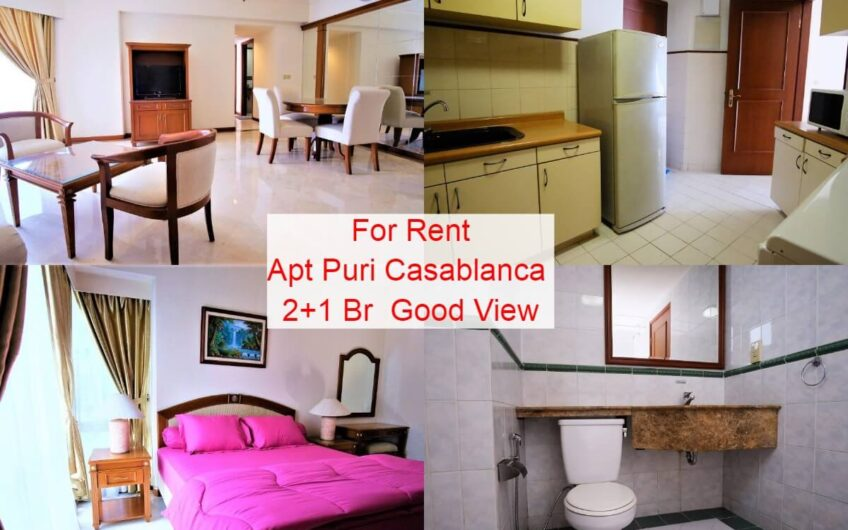 Apartment For Rent Puri Casablanca 2+1 Br Good View