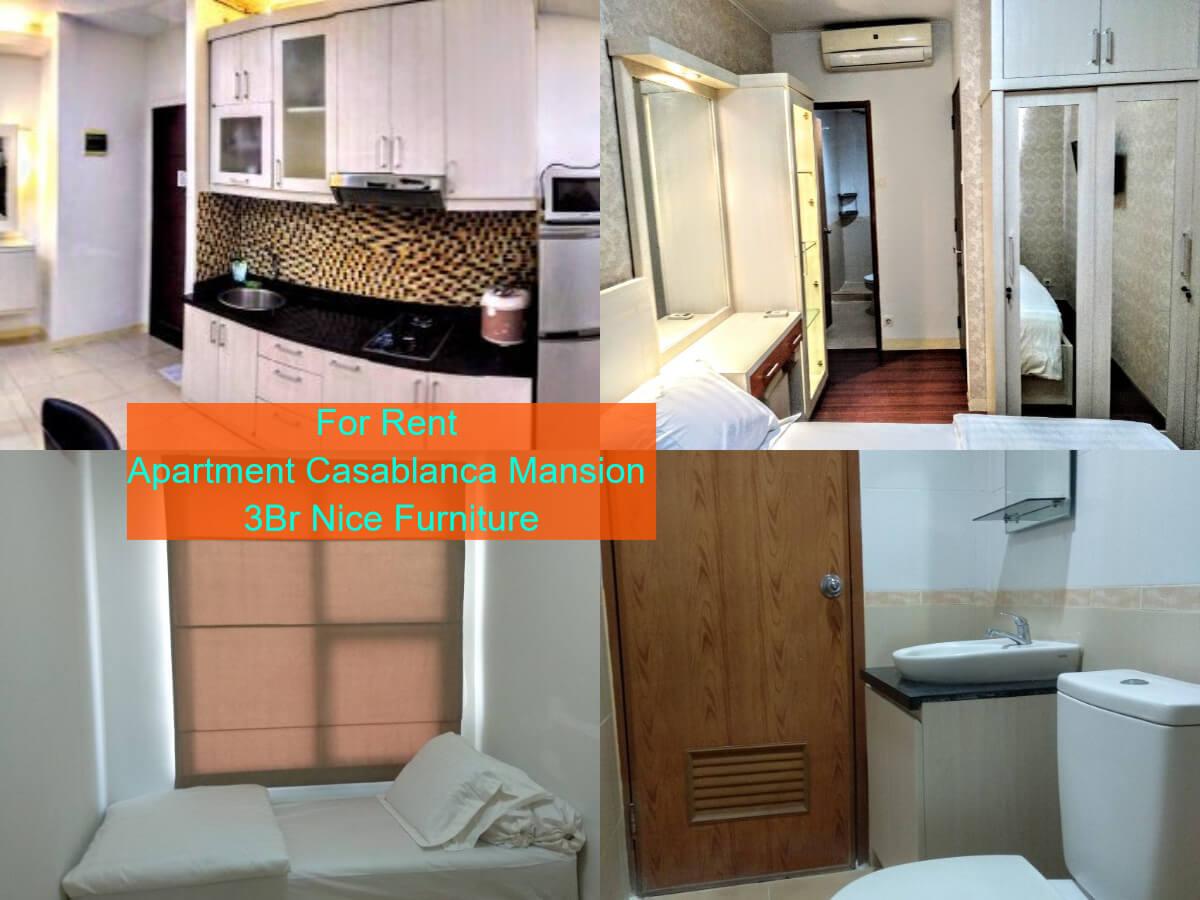 For Rent Apartment Casablanca Mansion 3Br Nice Furniture