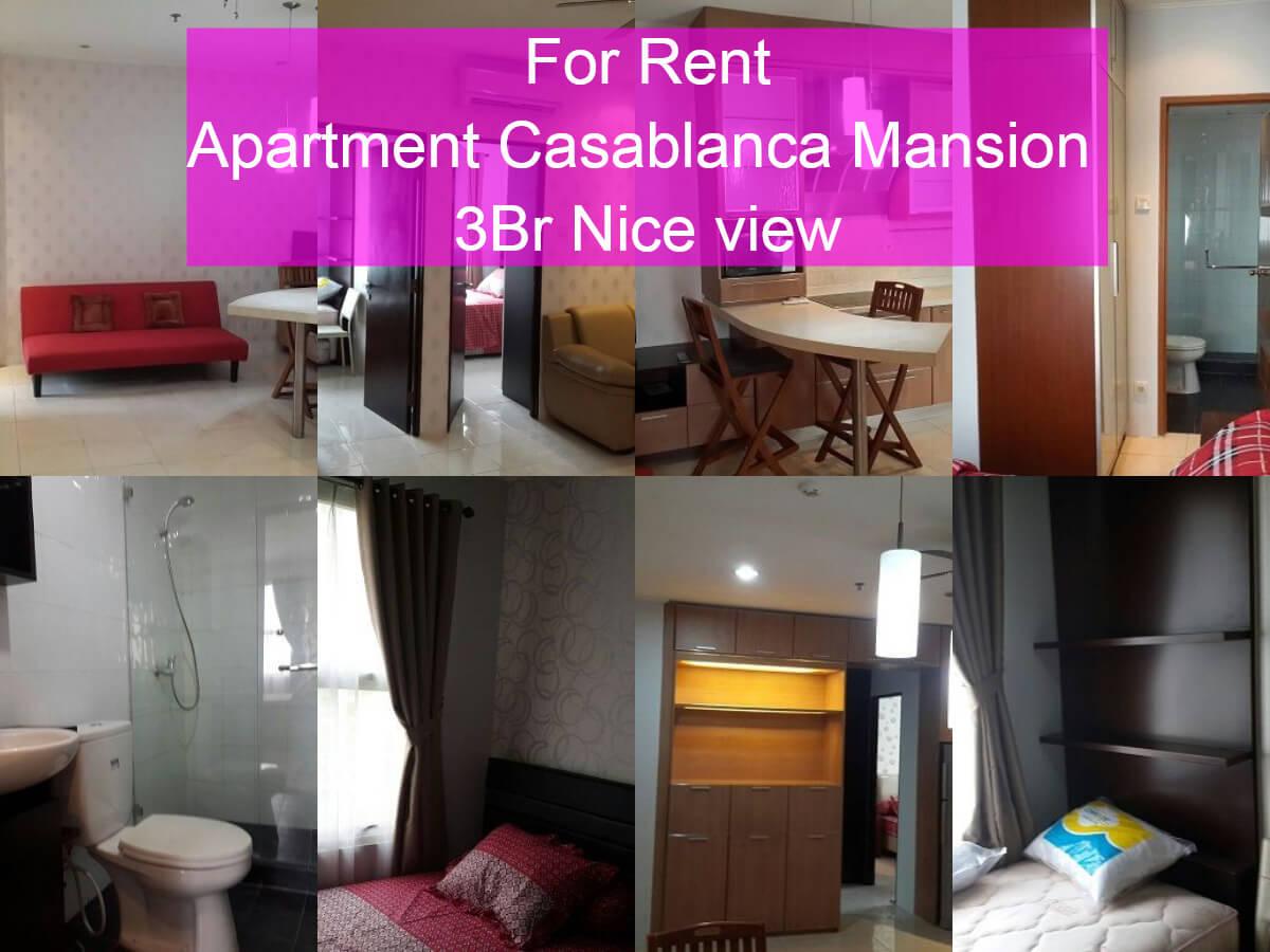 For Rent Apt Casablanca Mansion 3Br Nice view