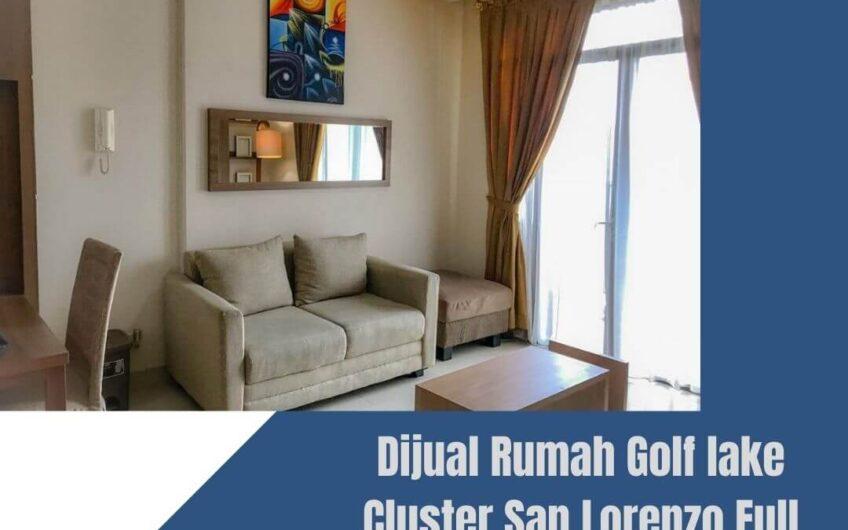 Dijual Rumah Golf lake Cluster San Lorenzo Full Renov Hadap Utara